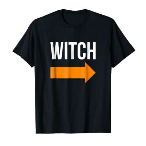 I Am With The Witch Halloween Party T Shirt