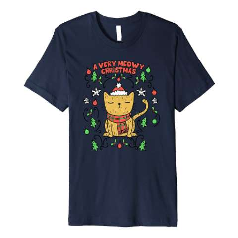 A Very Meowy Christmas T Shirt   -    Amazon Prime