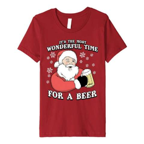 It's the Most Wonderful Time for a Beer Tee Shirt - Amazon Prime