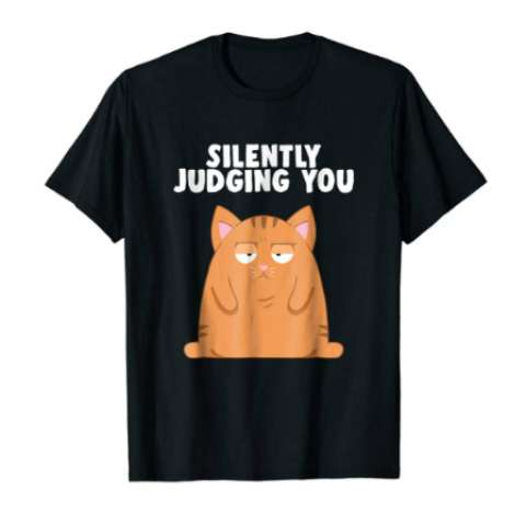 Silently Judging You | Funny Cat | T Shirt