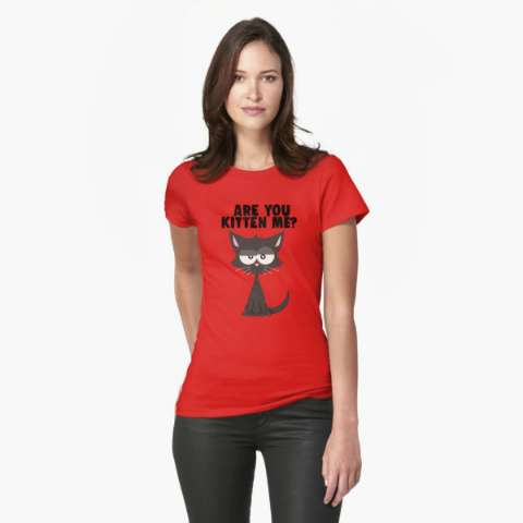 Are You Kitten Me | Funny Pun Cat | T Shirt